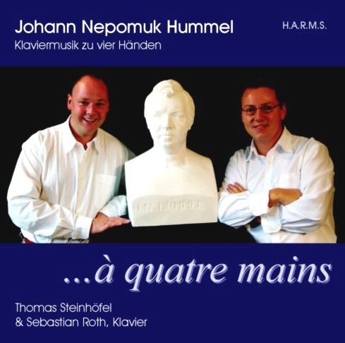 CD-Cover LJ.N. Hummel / Klaviermusik zu vier Händen, für Details zur CD bitte anklicken.