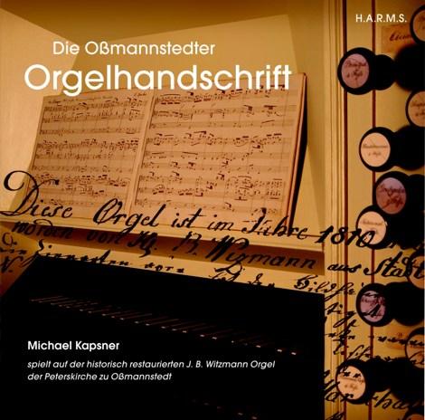 CD-Cover Die Oßmannstedter Orgelhandschrift, für Details zur CD bitte anklicken.