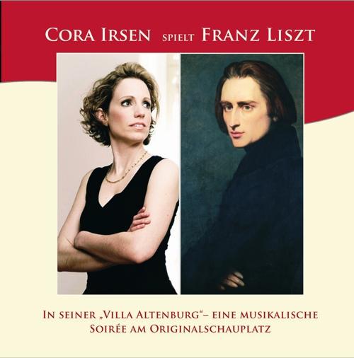 CD-Cover Cora Irsen spielt Liszt / Soirée Vol.1, für Details zur CD bitte anklicken.