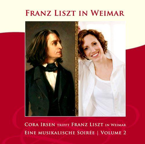 CD-Cover Cora Irsen trifft Franz Liszt / Soirée Vol.2, für Details zur CD bitte anklicken.